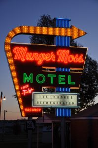 Preservationists work diligently to preserve neon signs like Munger Moss Motel.